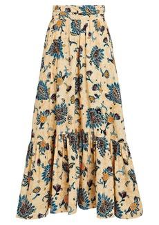 A.L.C. Lucie Printed Cotton Midi Skirt