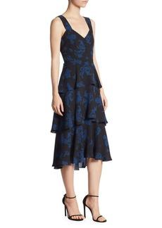 A.L.C. Luna Tiered Silk Dress