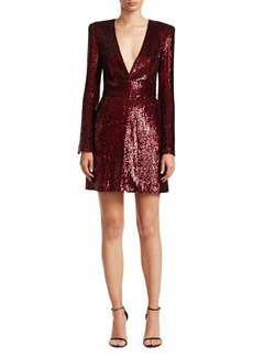 A.L.C. Mara Sequin Mini A-Line Dress