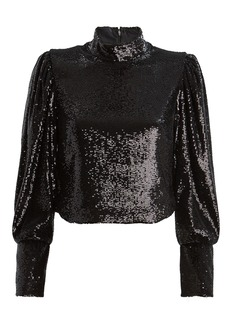 A.L.C. Margaret Sequin High Neck Blouse