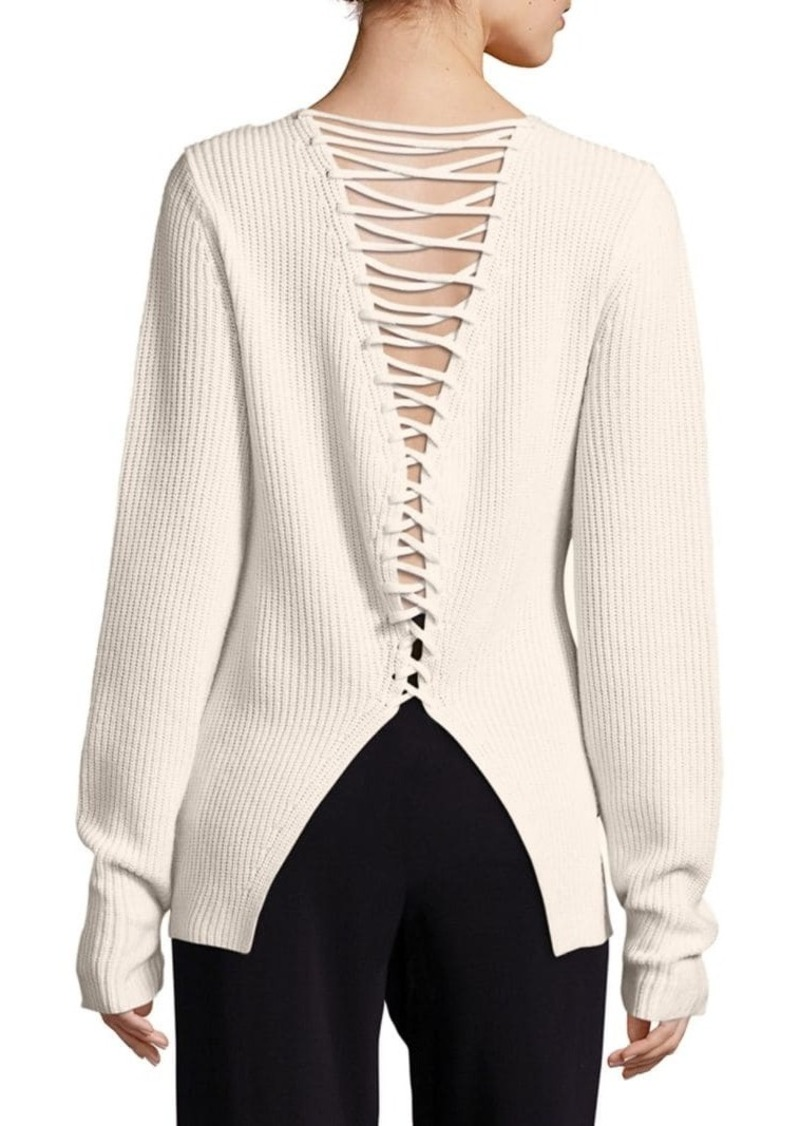A.L.C. Markell Wool & Cashmere Lace Back Sweater