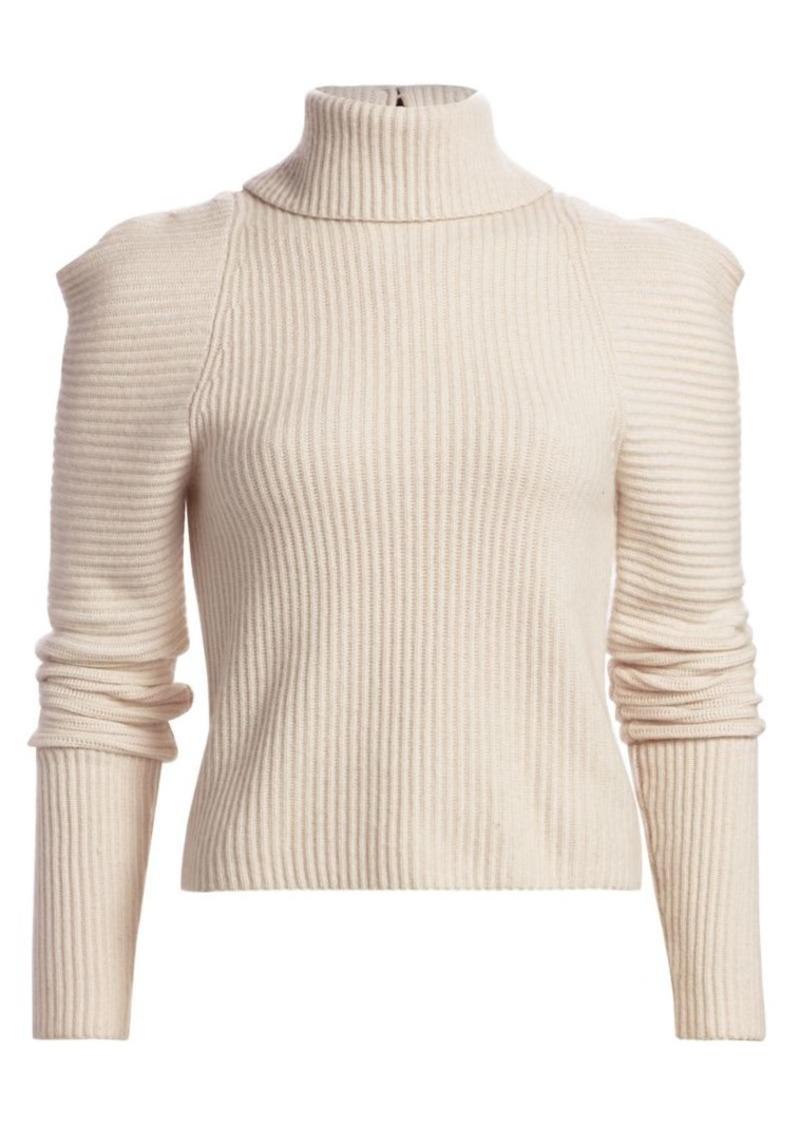 A.L.C. Maura Puff-Sleeve Turtleneck Sweater