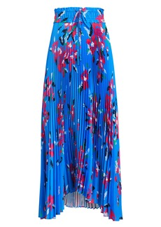 A.L.C. Maya Pleated Floral Skirt