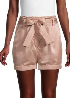 A.L.C. Merrick Paperbag Silk-Blend Shorts