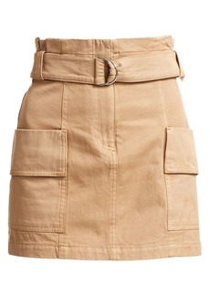 A.L.C. Mia Belted Stretch Cotton Mini Skirt
