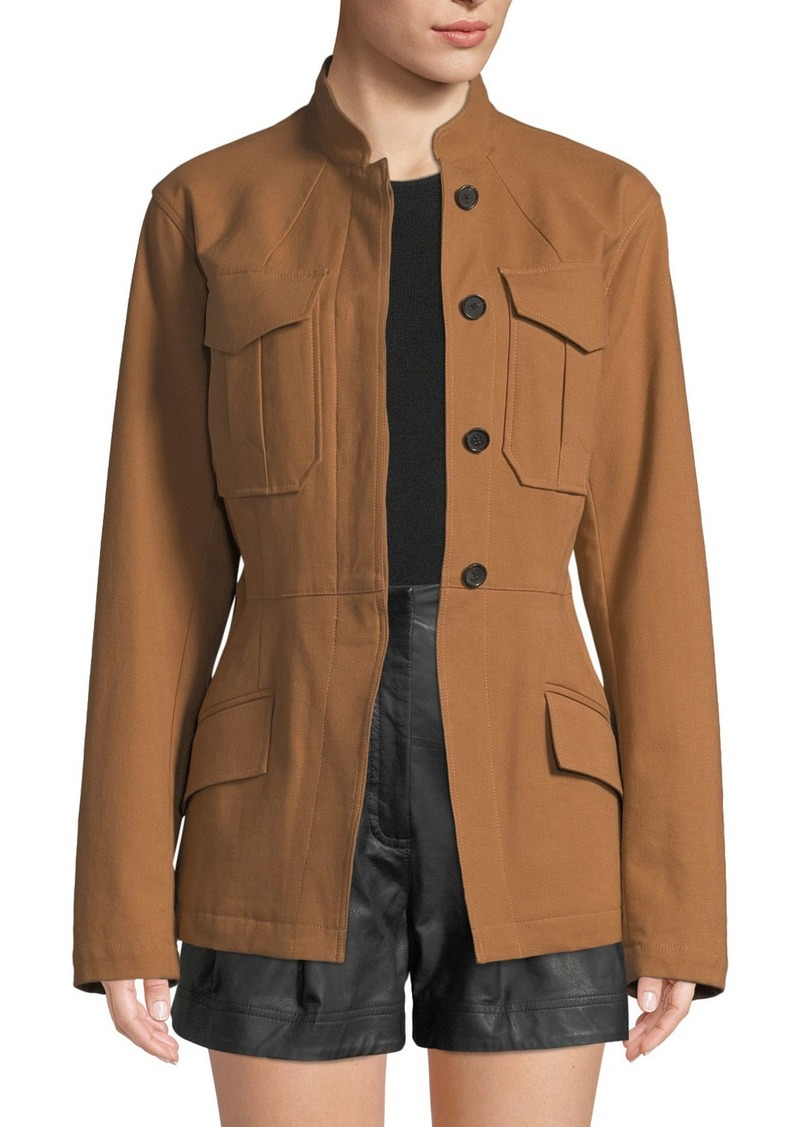 A.L.C. Milo Belted Button-Front Jacket