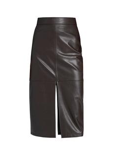 A.L.C. Moss Faux-Leather Pencil Skirt