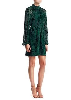 A.L.C. Nadia Velvet Burnout Mockneck Dress