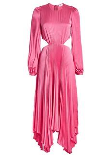 A.L.C. Naples Pleated Cut-Out Dress