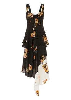 A.L.C. Natalia Two-Tone Floral Dress