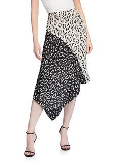 A.L.C. Natalie Asymmetrical Colorblock Skirt