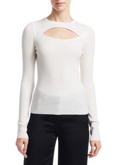 A.L.C. Nell Cutout Wool-Blend Sweater