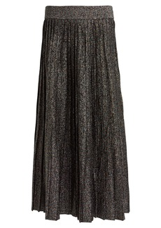 A.L.C. Nevada Metallic Pleated Skirt