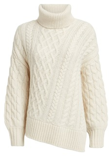 A.L.C. Nevelson Cable Knit Alpaca-Blend Turtleneck