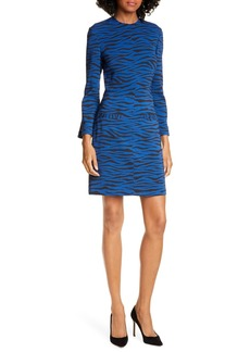 A.L.C. Noelle Bracelet Sleeve Tiger Print Dress