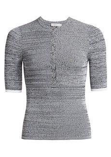 A.L.C. Norris Short Sleeve Knit Henley