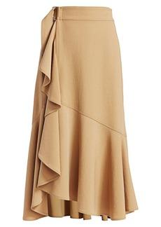 A.L.C. Pierre Ruffle Trim Midi Skirt