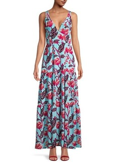 A.L.C. Rae Floral A-Line Dress