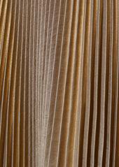 A.L.C. Renzo Metallic Pleated Dress