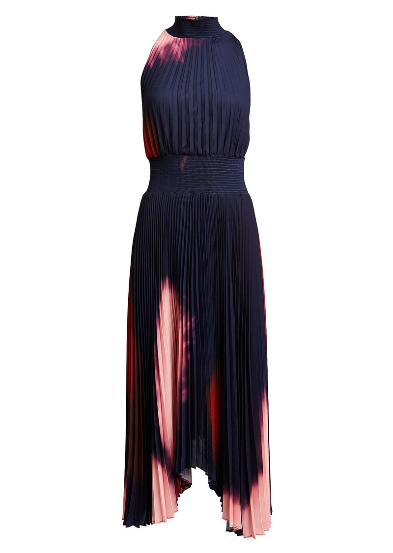 A.L.C. Renzo Tie-Dye Pleated Midi Dress