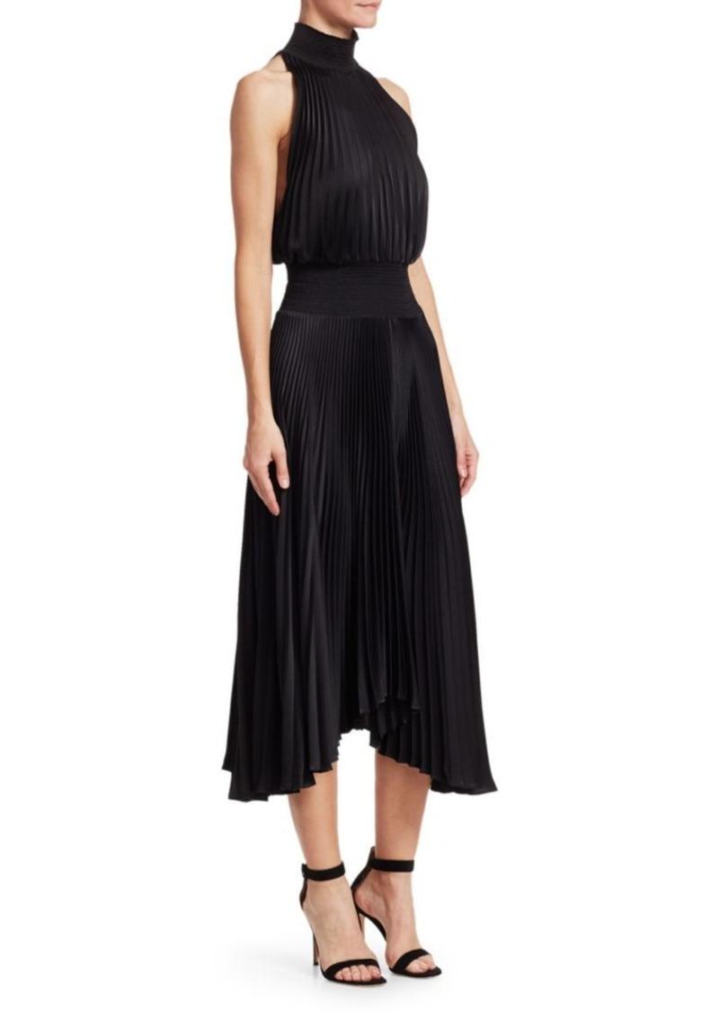 A.L.C. Renzo Pleated Sleeveless Dress