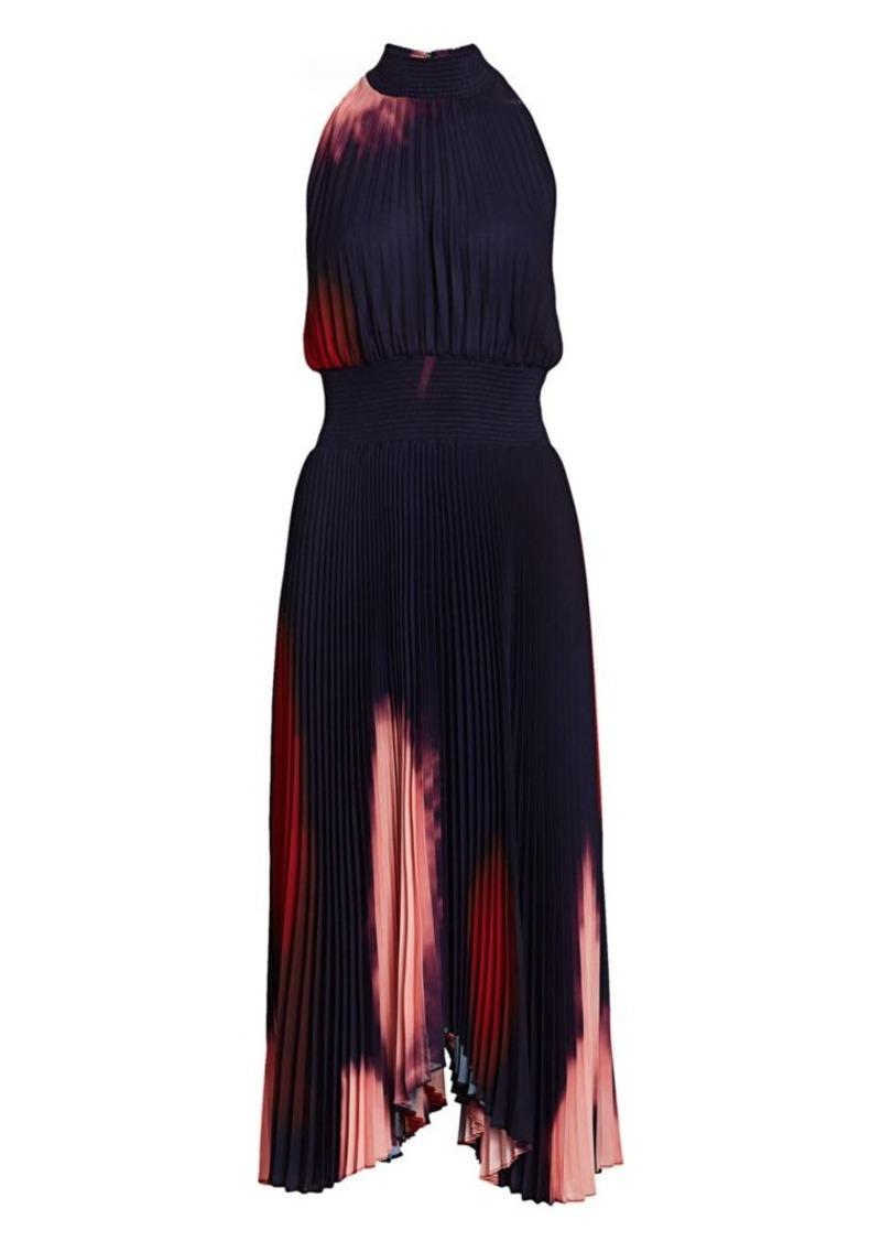 A.L.C. Renzo Tie Dye Pleated Halter Dress