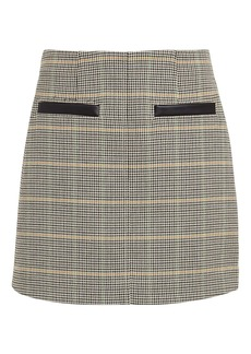 A.L.C. Reynolds Checked Mini Skirt