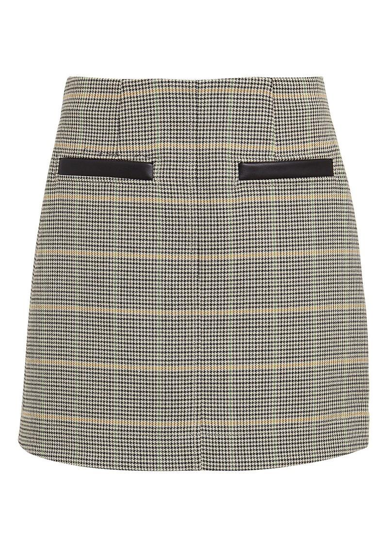 A.L.C. Reynolds Checked Mini Skirt