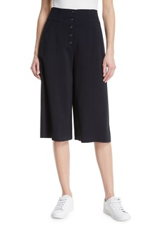 A.L.C. Roy Cropped Button-Fly Wide-Leg Pants