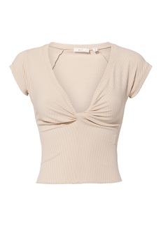 A.L.C. Sabina Twist Front Crop Top