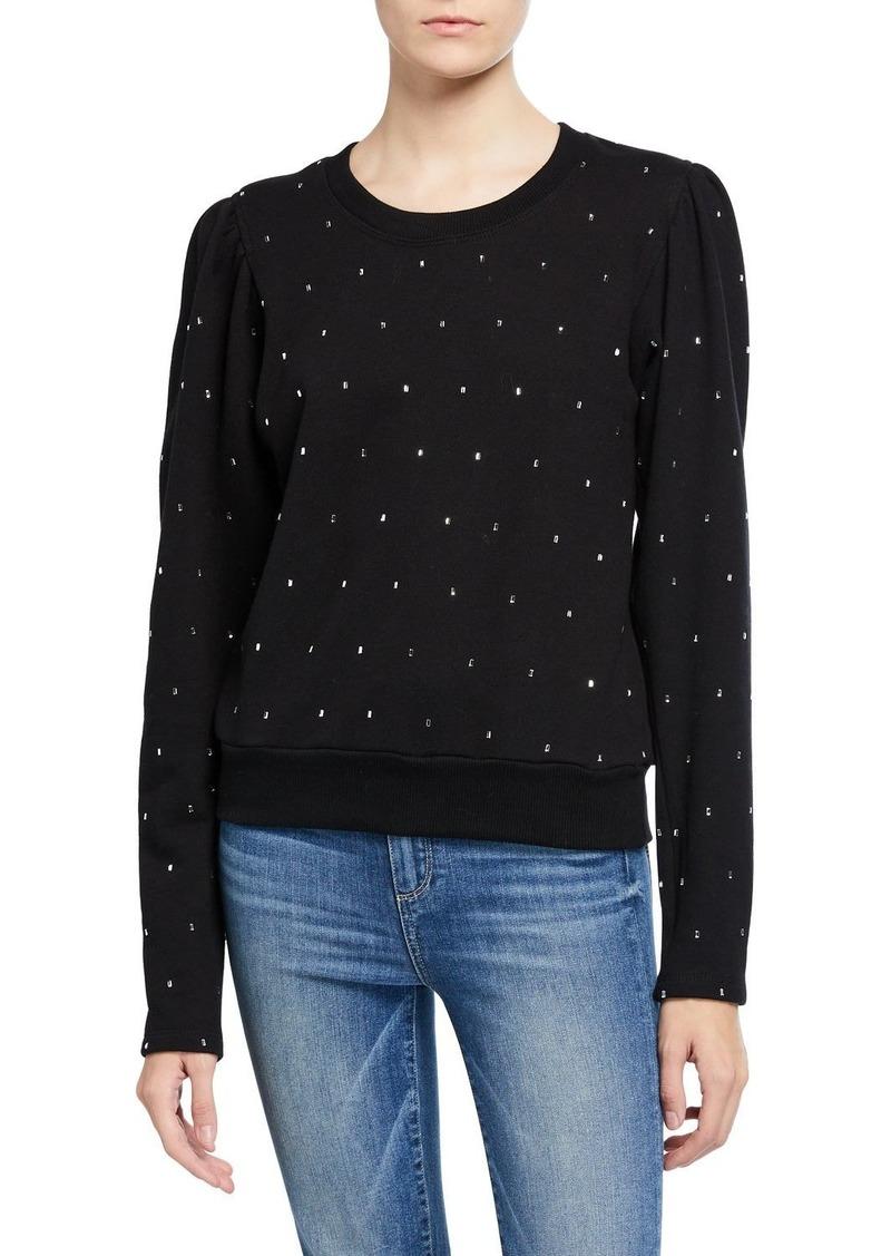 A.L.C. Saunders Embellished Crewneck Sweatshirt