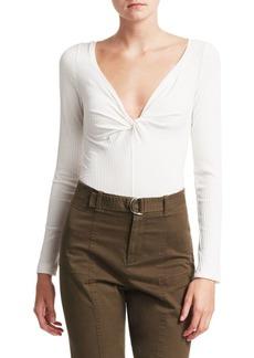 A.L.C. Savannah Twist Neck Knit Top