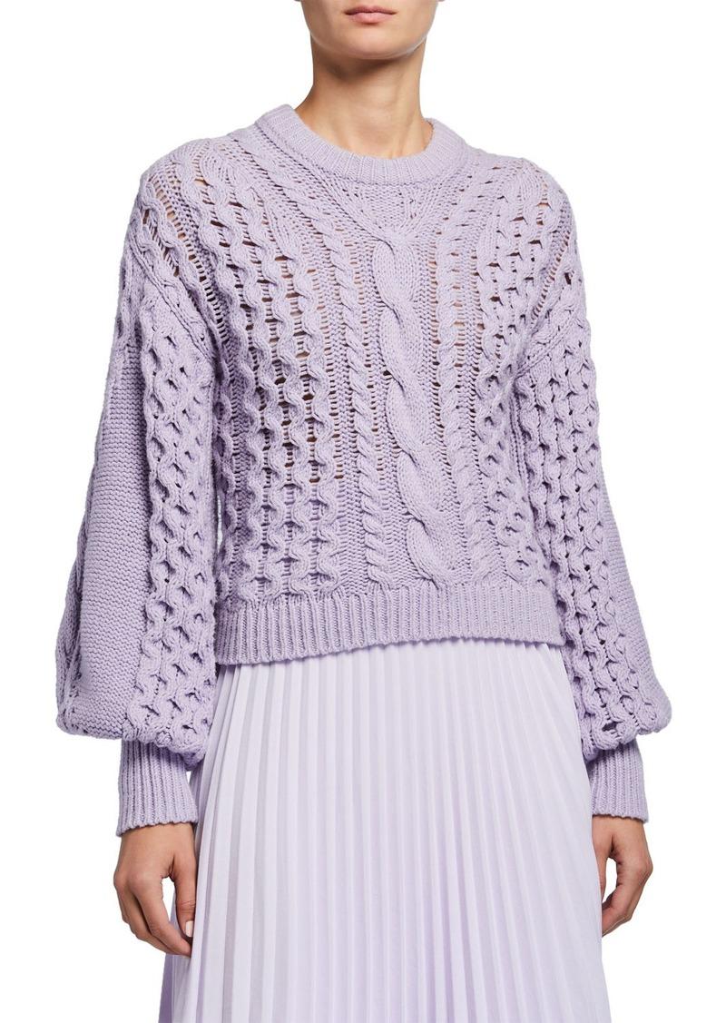 A.L.C. Serena Blouson-Sleeve Sweater