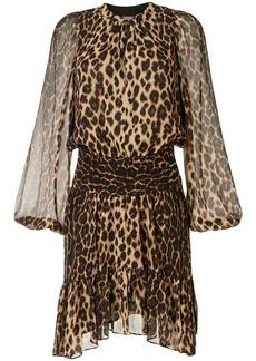 A.L.C. Sidney leopard print silk dress