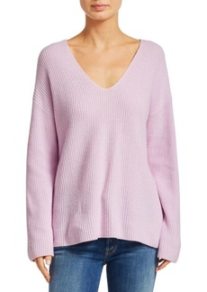 A.L.C. Sierra V-Neck Rib-Knit Sweater
