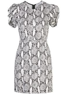 A.L.C. snakeskin print short sleeve dress