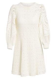 A.L.C. Sofia Long-Sleeve Crochet Fit-&-Flare Dress