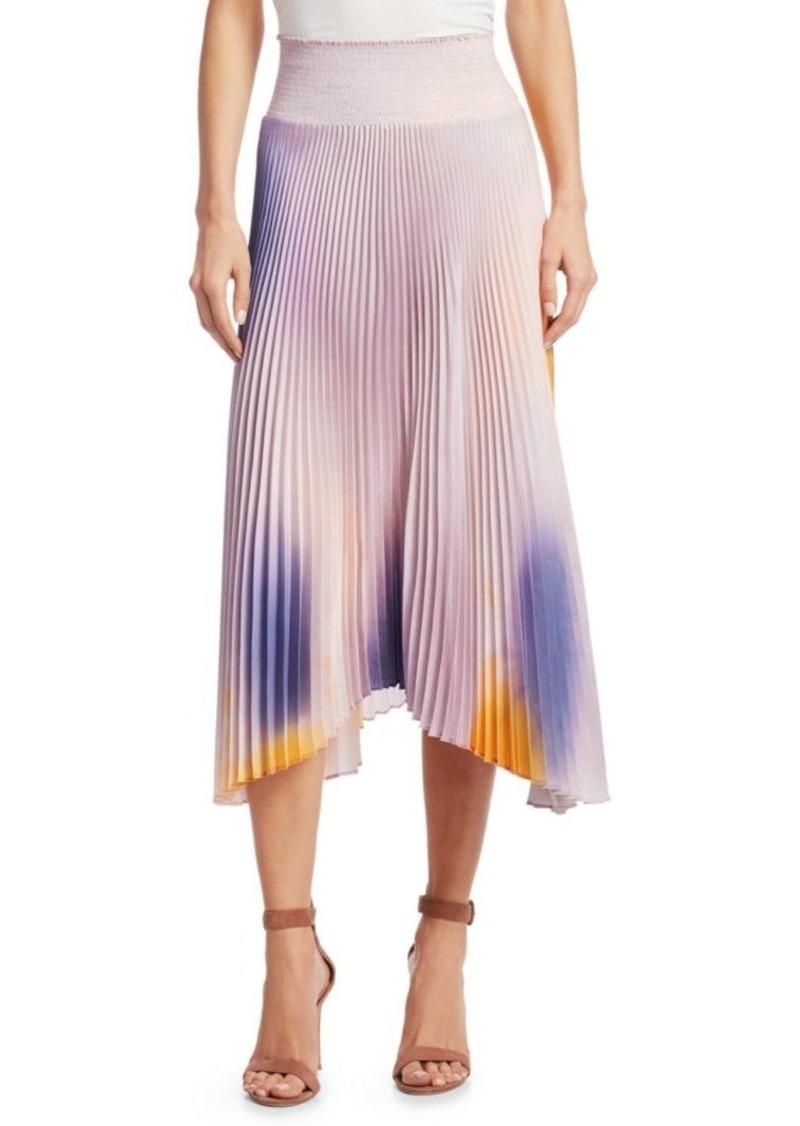 A.L.C. Sonali Ombre Pleated Midi Skirt