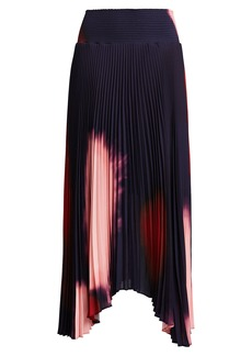 A.L.C. Sonali Pleated Tie-Dye Skirt