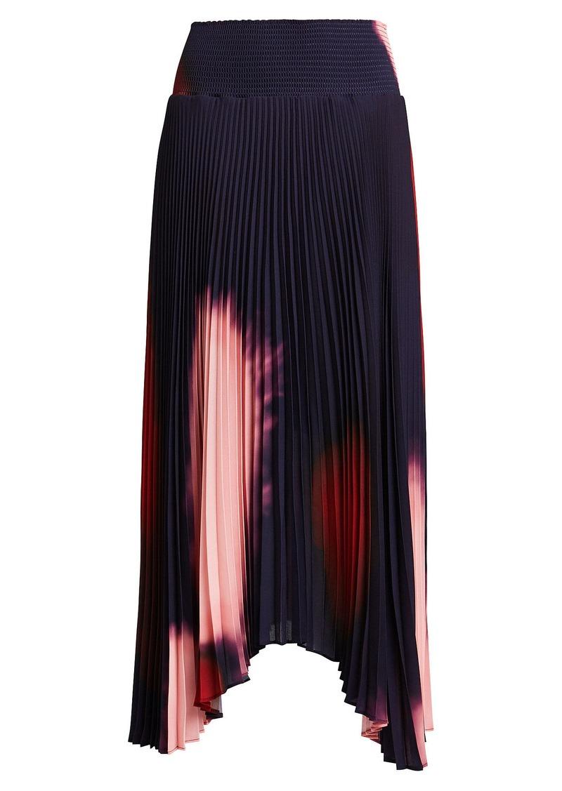 A.L.C. Sonali Pleated Tie-Dye Skirt