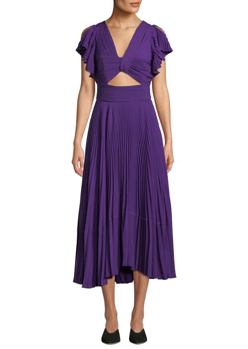 A.L.C. Sorrento Cutout Plisse Cocktail Dress