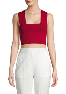 A.L.C. Squareneck Cropped Top