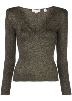 A.L.C. structured-shoulder metallic top