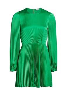 A.L.C. Tavi Long-Sleeve Pleated Mini Dress