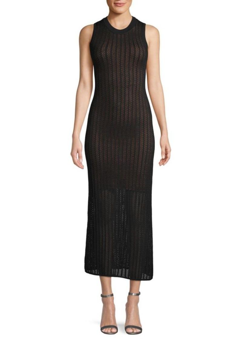A.L.C. Textured Sleeveless Maxi Dress