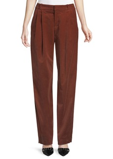 A.L.C. Tori Pleated Corduroy Wide-Leg Pants