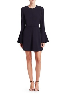 A.L.C. Trixie Bell-Sleeve Silk Crepe Dress