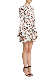 A.L.C. Trixie Silk Print Mini Dress