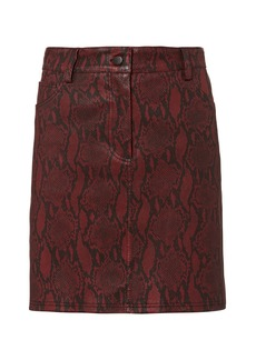 A.L.C. Troy Snake Print Leather Skirt