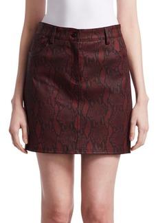 A.L.C. Troy Snakeskin Mini Skirt